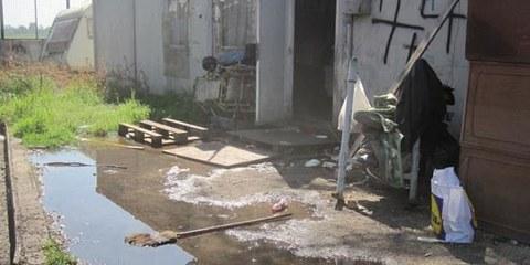 La population rom qui vit sur le site de Tor de' Cenci est menacée d'expulsion. © AI