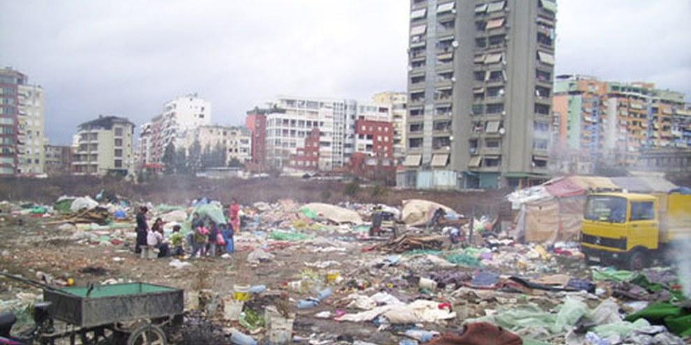 Quelques 35 familles roms ont été expulsées de leur logement à Tirana. © SHKEJ (National Association - Education for Life)