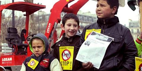 En avril 2013 avait lieu l'événement «Stop aux expulsions forcées» © Magali F. Fouquet