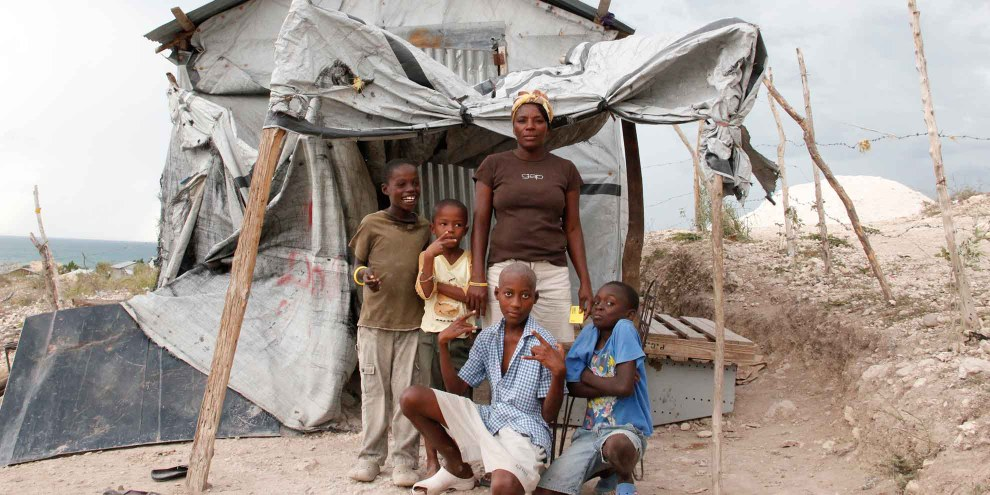 Le village «Grace de Dieu» en Haïti. © Amnesty International