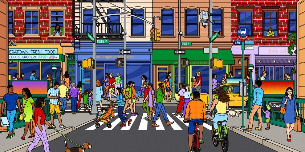 Des milliers de volontaires du monde entier ont participé à l'enquête et ont localisé plus de 15 000 caméras de surveillance à diverses intersections de New York. © Eliana Rodgers