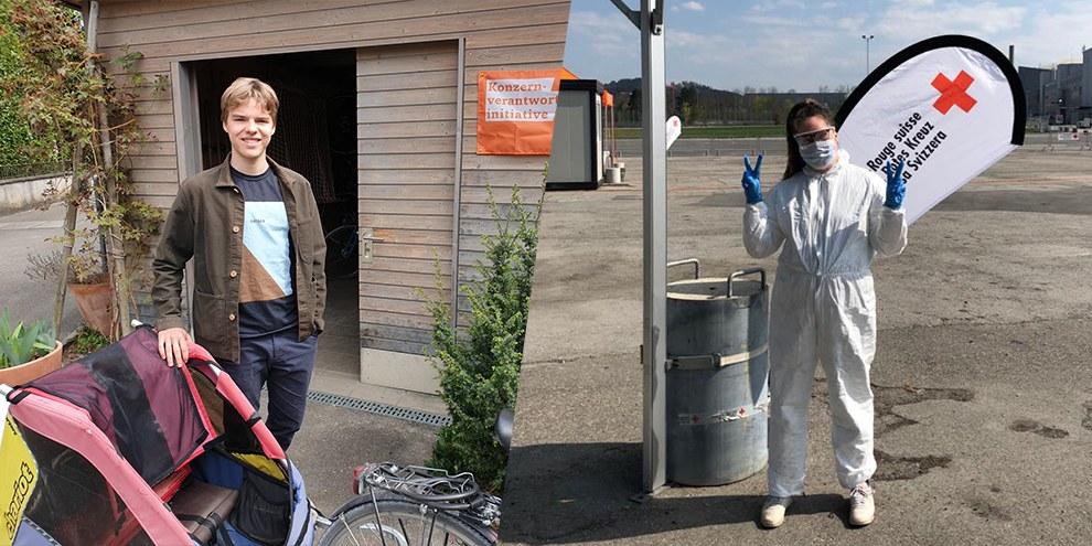 Engagées malgré le coronavirus : Dario Heierli et Denise Brechbühl ©Dario Heierli/Denise Brechbühl