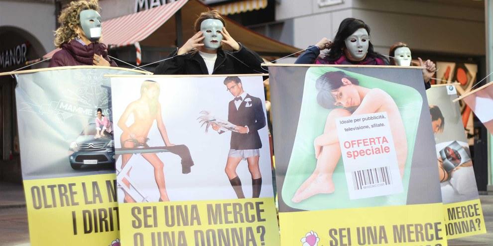 Azione del Gruppo DAISI a Lugano, 8 marzo 2014  © Ennevia Photography