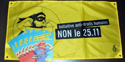 Difendi i diritti umani in Svizzera: ordina i flyer!
