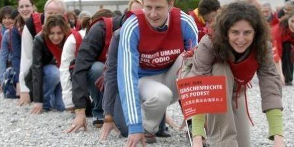 Lanco della campagna a Locarno © Ti-Press / Samuel Golay