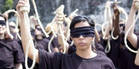 Azione contro la pena di morte in Messico © Amnesty International