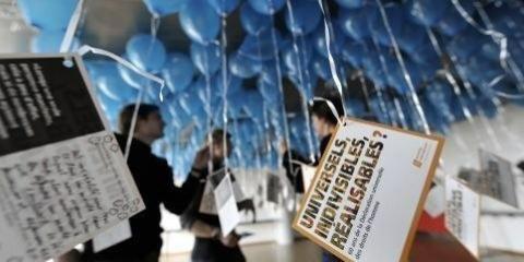 Azione a Berna in occasione dell'assemblea generale di AICH ©Adrian Moser