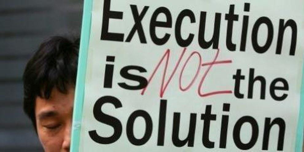 La pena di morte non è una soluzione: proteste davanti all'ambasciata cinese di Hong Kong © Privato