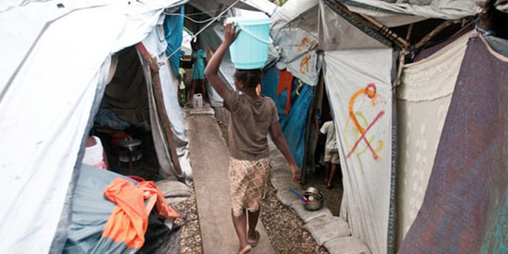 Haiti camp ©  Michael Swan