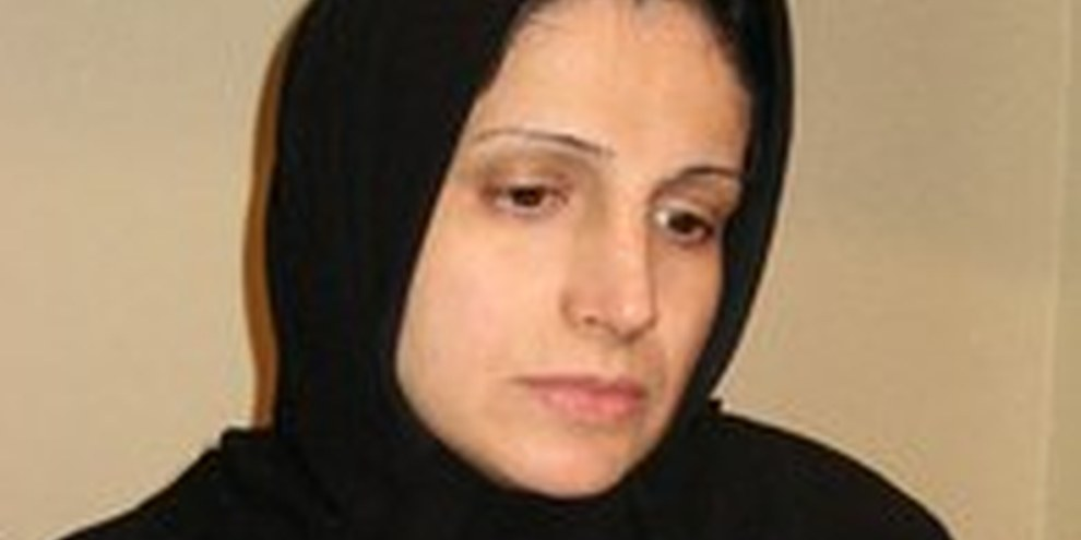 Nasrin Sotoudeh, premio Sakharov 2O12, in sciopero della fame.