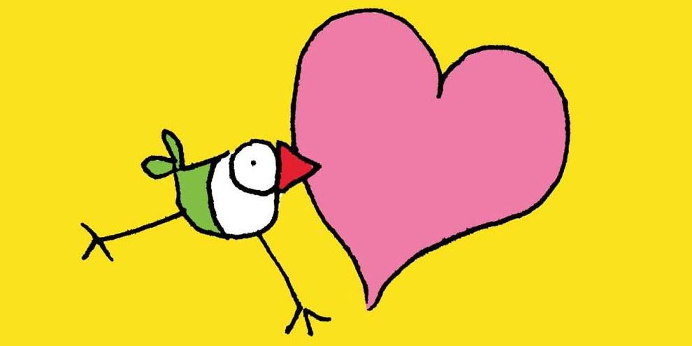 L'uccello Biriki, disegnato da Bruna Ferrazzini