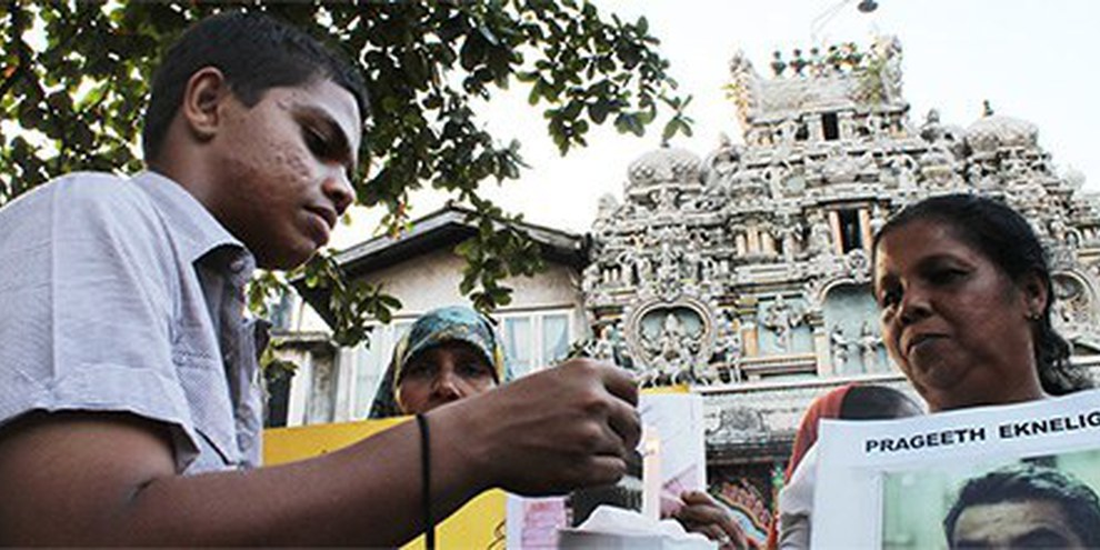 Colombo, gennaio 2012: manifestazione contro le sparizioni forzate  © Vikalpasl