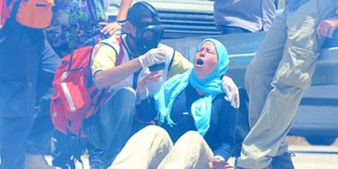 I lacrimogeni usati dallle forze di sicurezza israeliane hanno effetti devastanti sui civili © Haim Schwarczenberg