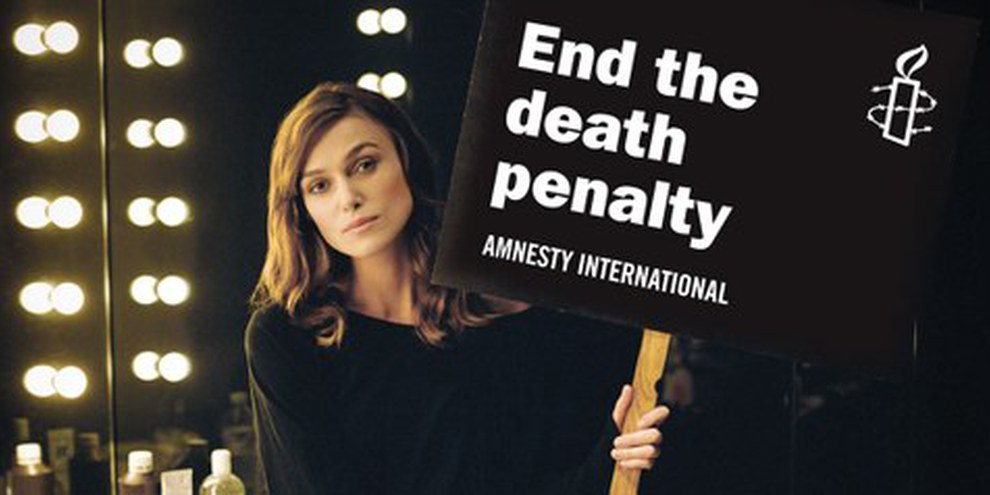 Anche l'attrice Keira Knightley chiede la fine della pena di morte| © AI/Thomas Birkett