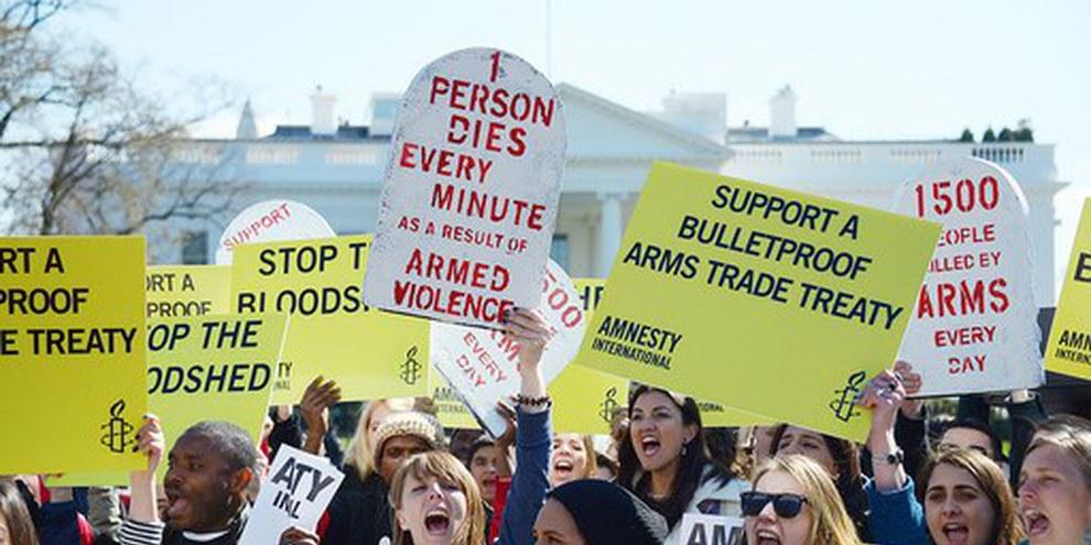 Amnesty Internationale e i suoi sostenitori si sono battuti in favore dell'ATT dagli anni Novanta © Amnesty International
