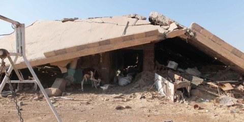 Ridotto in macerie: il villaggio di Husseinija nella parte nord-orientale della Siria. © Amnesty International