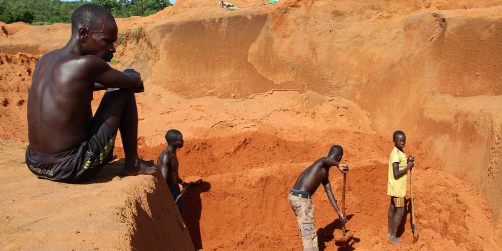 Miniera nella regione di Carnot, Repubblica Centrafricana, maggio 2015. © Amnesty International