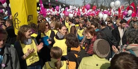 Giornata internazionale delle donne, Berna.  © Amnesty International