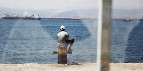 Secondo la polizia greca il 20 ottobre 14 siriani sono stati rinviati dall'isola di Kos a Adana, in Turchia, in seguito all'accordo concluso tra Turchia e Unione Europea. © Giorgos Moutafis/Amnesty International