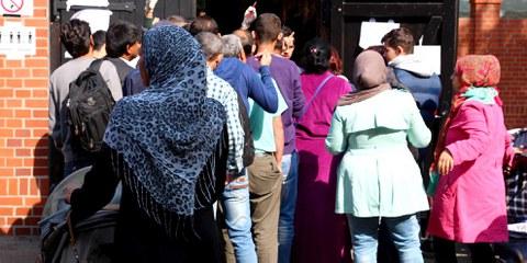 Centro di registrazione per rifugiati a Berlino © Julia Weiss