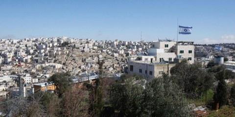 Un insediamento a Tal Rumeida/Hebron. © HAZEM BADER/AFP/Getty Images