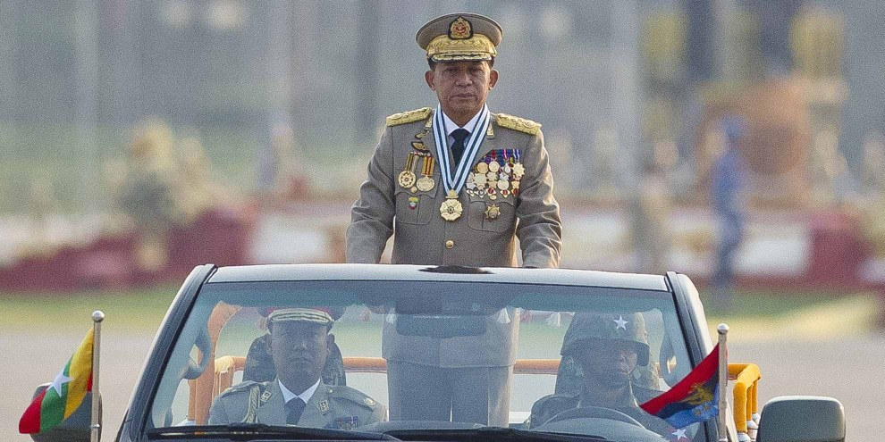 Il generale Min Aung Hlaing. © AFP/Getty Images