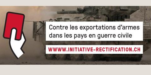 Iniziativa di rettifica contro le esportazioni di armi verso paesi in guerra civile