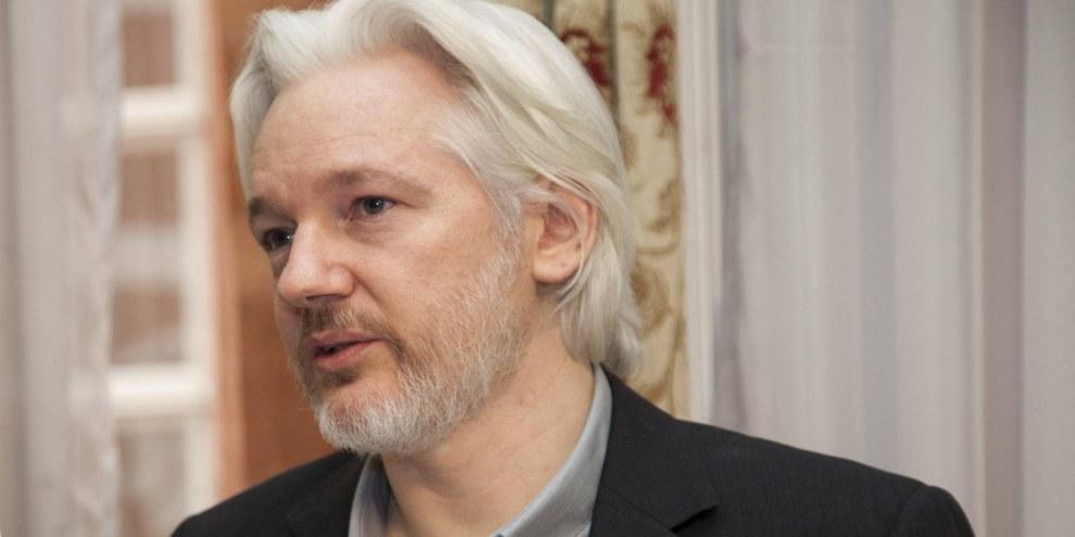 Julian Assange durante la sua permanenza dell'Ambasciata dell'Ecuador a Londra © David G Silvers/Cancillería del Ecuador