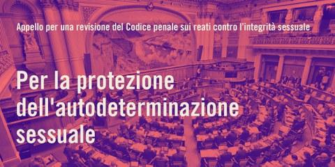 Appello nazionale per un Codice penale sui reati sessuali al passo con i tempi