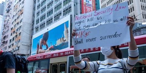 Hong Kong, 25 maggio 2020: migliaia di persone hanno manifestato contro la legge sulla sicurezza nazionale. ©Jimmy Siu / shutterstock.com