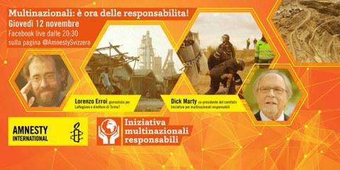 Multinazionali: è l'ora delle responsabilità! Incontro con Dick Marty