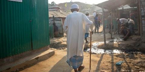 In un campo di rifugiati Rohingya in Bangladesh. © Amnesty/Reza Shahriar Rahman