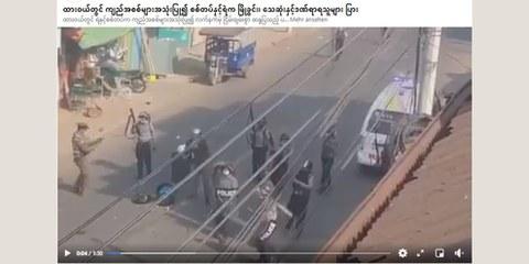 Un vasto arsenale di truppe dispiegato durante la violenta repressione delle manifestazioni.
